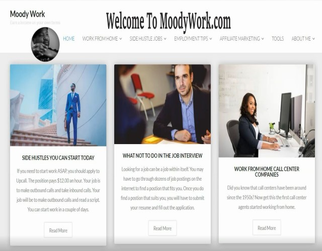 Welcome to MoodyWork.com